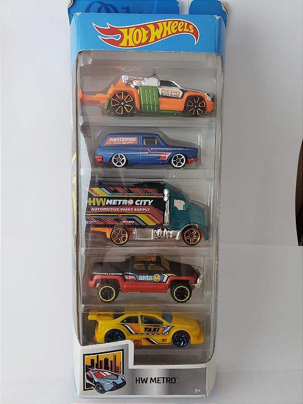 Pack com 5 Miniaturas Hot Wheels - HW Metro