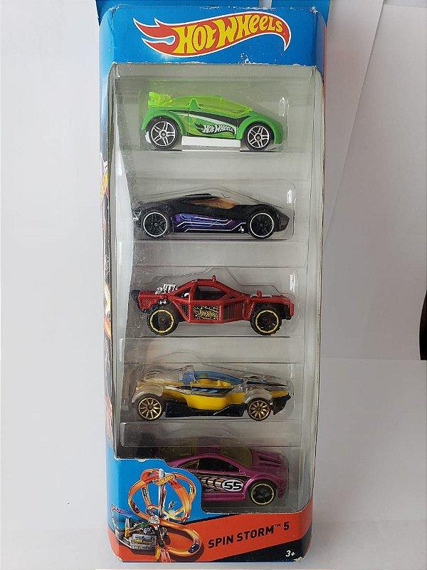 Pack com 5 Miniaturas Hot Wheels - Spin Storm 5
