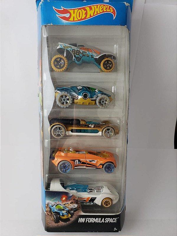 Pack com 5 Miniaturas Hot Wheels - Formula Space