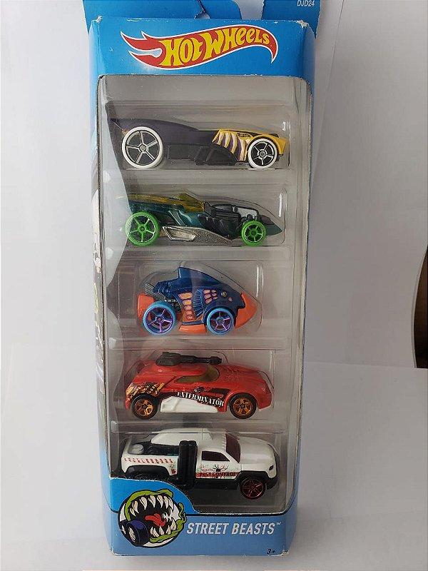 Pack com 5 Miniaturas Hot Wheels - Street Beasts