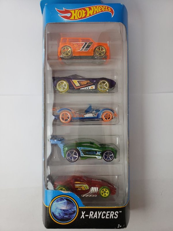Pack com 5 Miniaturas Hot Wheels - X Raycers