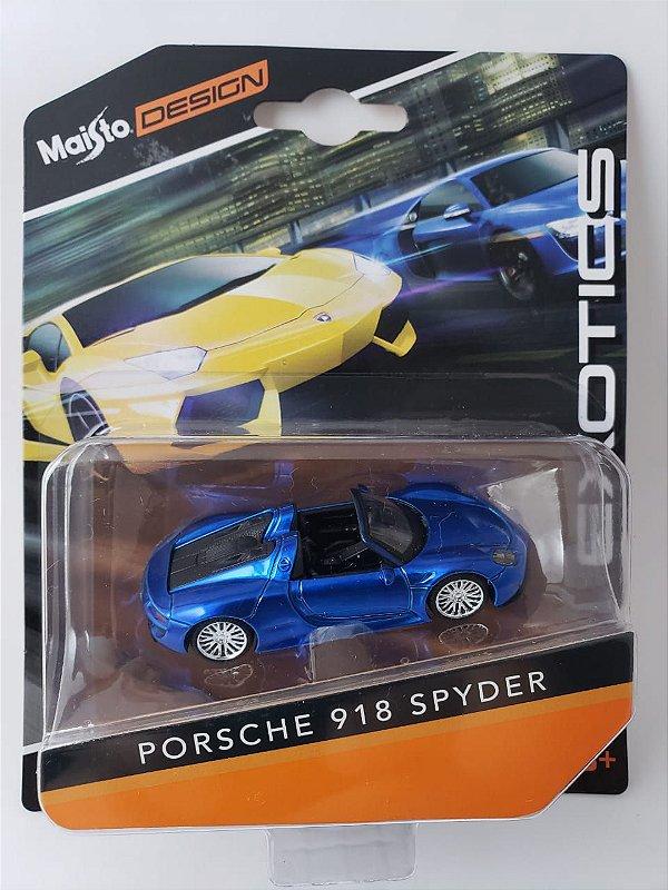 Miniatura Maisto Design - Porsche 918 Spyder - Escala 1/64 Aprox 8cm