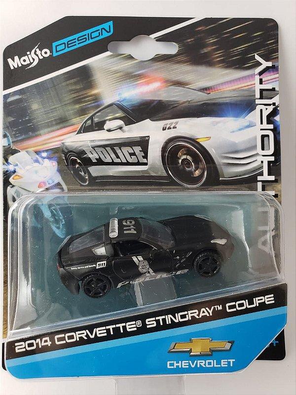 Miniatura Maisto Design - Corvette Stingray Coupe 2014 - Escala 1/64 Aprox 8cm