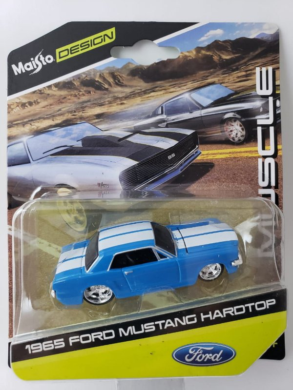 Miniatura Maisto Design - Ford Mustang 1965 - Escala 1/64 Aprox 8cm