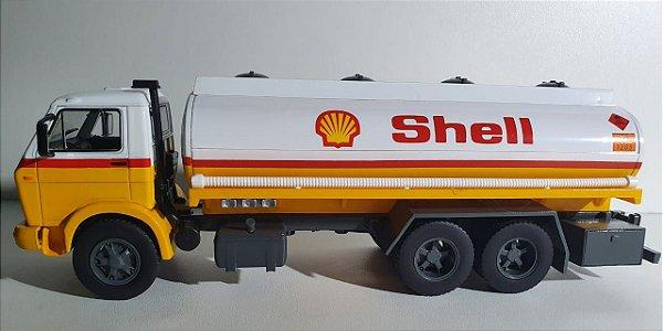 Miniatura Caminhão Combustível Volkswagen 13-130 Sheel - Escala 1/32