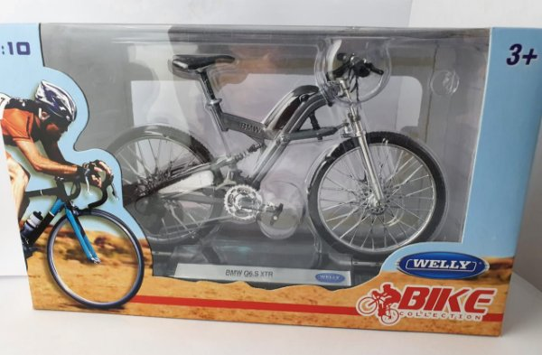 Miniatura Bicicleta BMW Q6 S XTR - Welly - Escala 1/10 em Metal