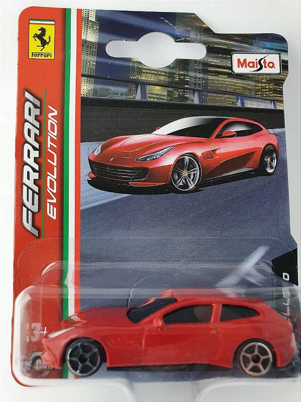 Miniatura Ferrari GTC4 Lusso Escala 1/64 Burago Ferrari Evolution