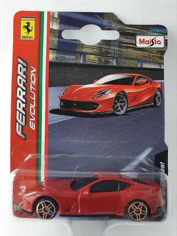 Miniatura Ferrari 812 Superfast Escala 1/64 Burago Ferrari Evolution