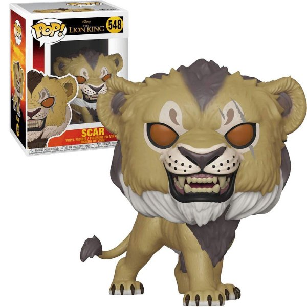 Boneco Pop Funko! Disney Rei Leão Lion King Live Scar 548