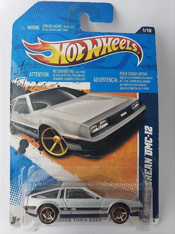 Miniatura Hot Wheels - Delorean DMC 12 - Fast Than Ever