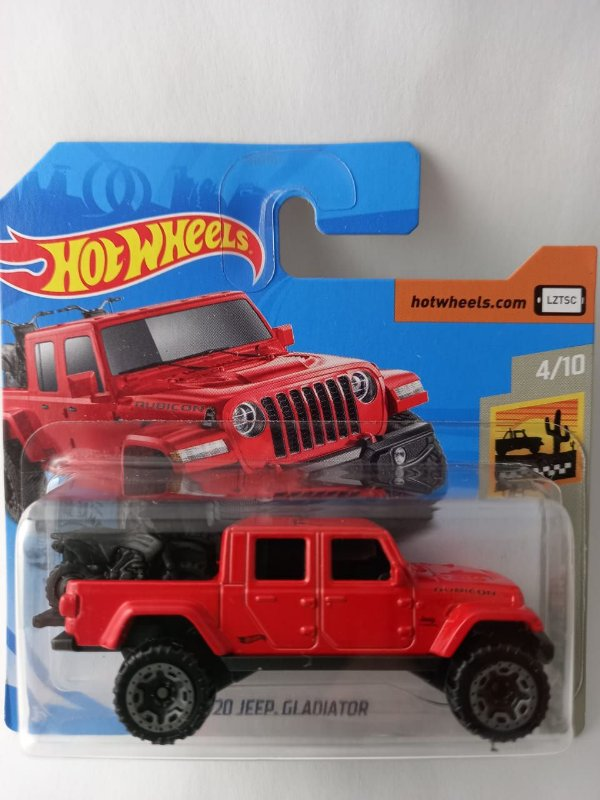Miniatura Hot Wheels - Jeep Gladiator 2020 c/ Duas Motos