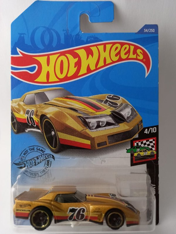 Miniatura Hot Wheels - Corvette Greenwood 76 - HW Race Day