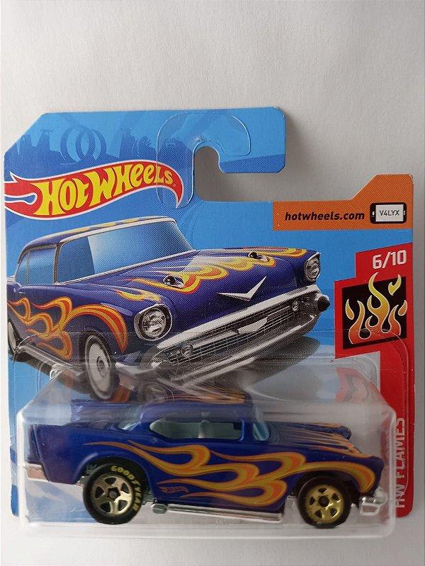 Miniatura Hot Wheels - Chevy 57 - HW Flames