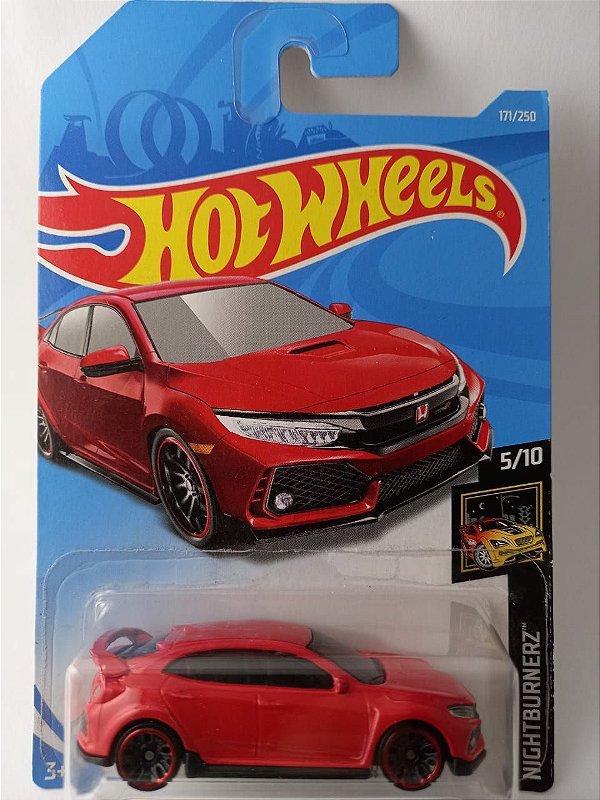 Miniatura Hot Wheels - Honda Civic Type-R 2018 - Nightburnerz