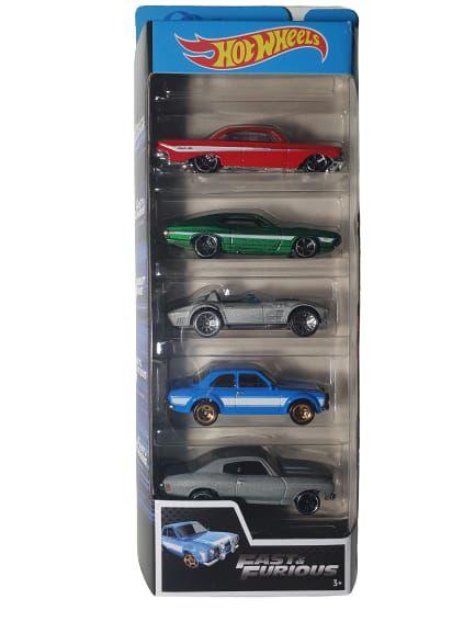 Pack com 5 Miniaturas Hot Wheels - Velozes e Furiosos