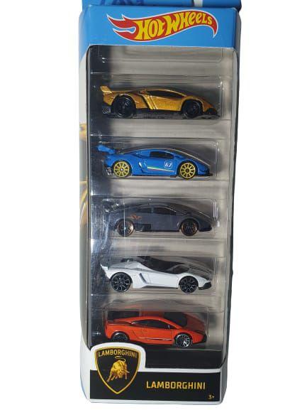 Pack com 5 Miniaturas Hot Wheels - Lamborghini