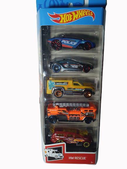 Pack com 5 Miniaturas Hot Wheels - HW Rescue