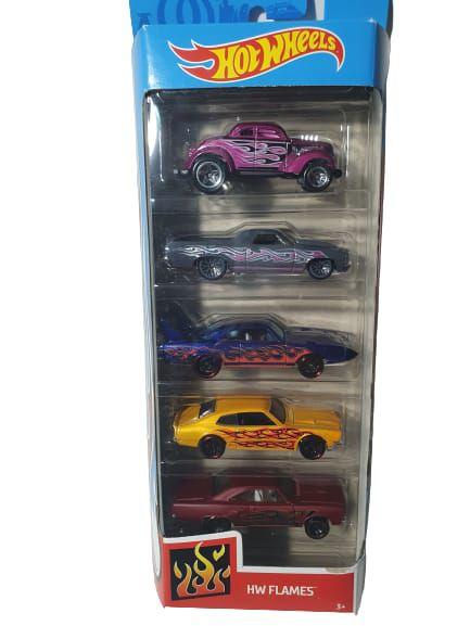 Pack com 5 Miniaturas Hot Wheels - HW Flames