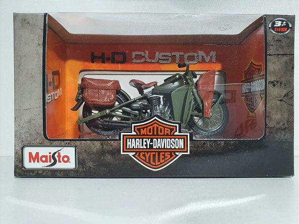 Miniatura Moto Harley Davidson 1942 WLA Flat Head - Escala 1/18 - Maisto