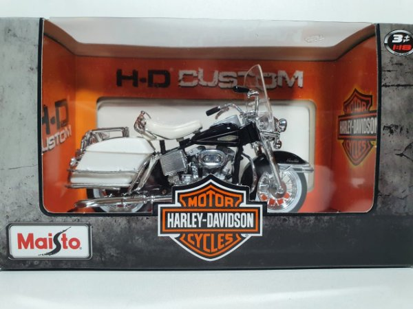 Miniatura Moto Harley Davidson 1968 FLH Electra Glide - Escala 1/18 - Maisto