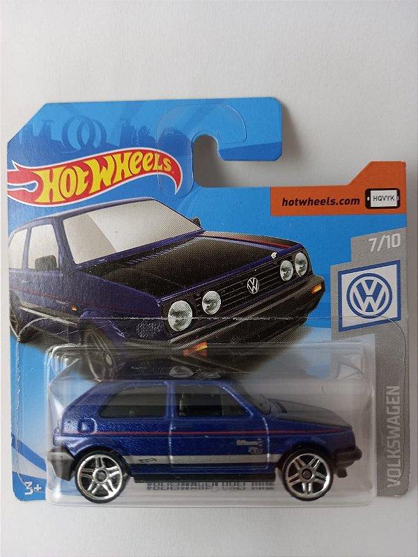 Miniatura Hot Wheels - Volkswagen Golf MK2 Azul