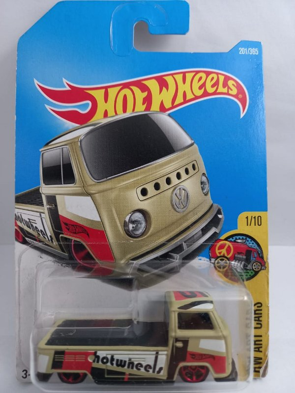 Miniatura Hot Wheels - Volkswagen Kombi Pick Up T2 - HW Art Cars