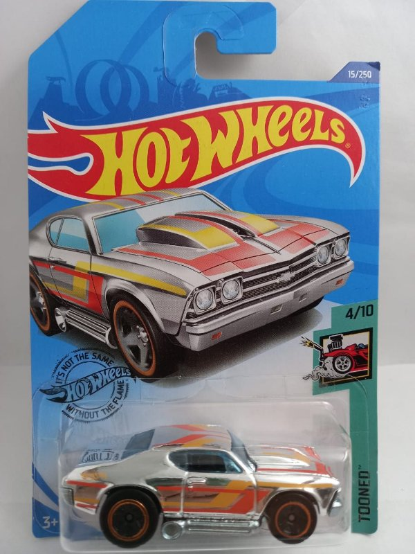 Miniatura Hot Wheels - Chevelle 1969 Cromado - Tooned