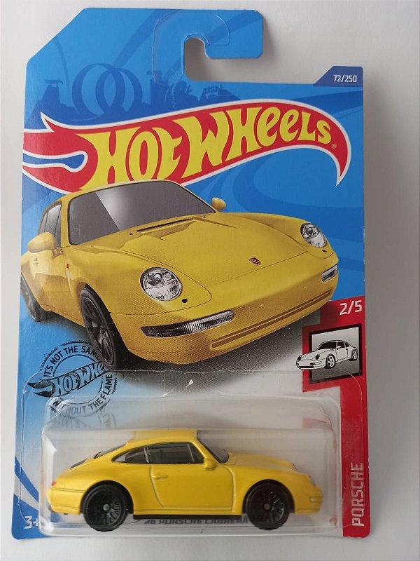 Miniatura Hot Wheels - Porsche Carrera 1996 Amarelo