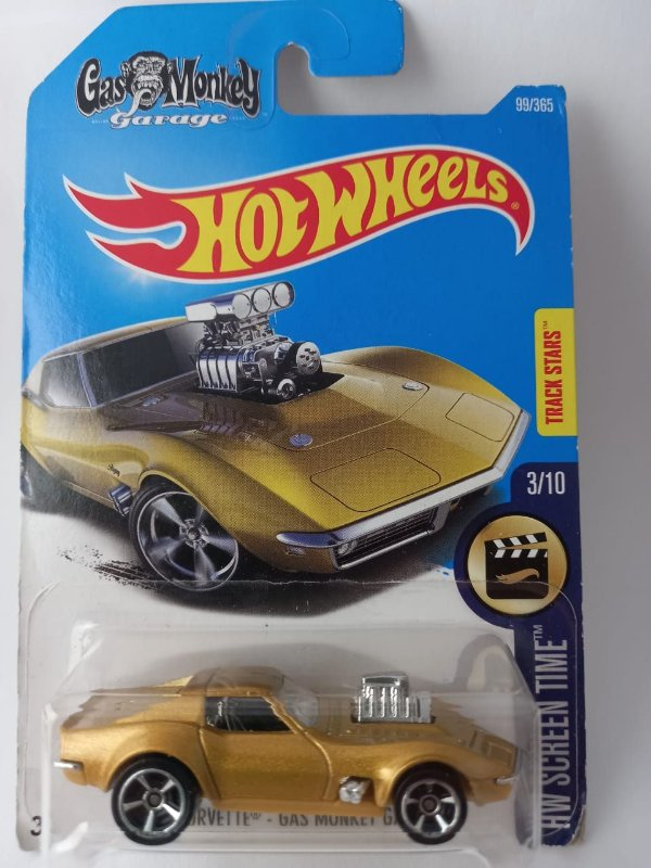 Miniatura Hot Wheels Corvette 1968 Gas Monkey Garage HW Screen Time