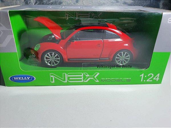 Miniatura Volkswagen New Beetle Fusca - Escala 1/24 Aprox. 20cm - Welly