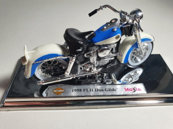 Miniatura Moto Harley Davidson FLH Duo Glide 1958 - Escala 1/18