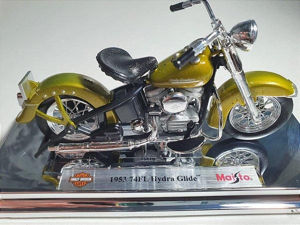 Miniatura Moto Harley Davidson 74FL Hydra Glide 1953 - Escala 1/18