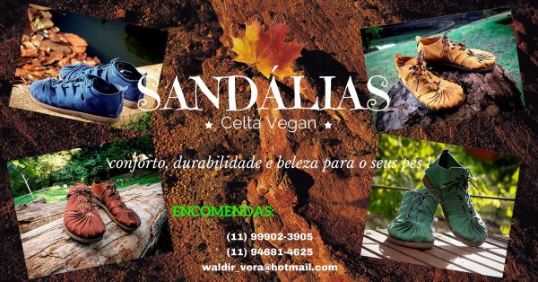 Sandália de lona vegan