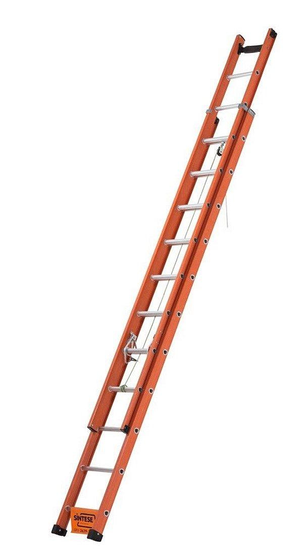 Escada Extensiva em Fibra 4,5 metros fechada / 7,5 metros aberta