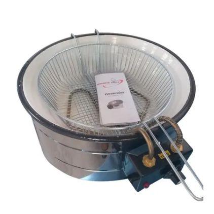 Fritadeira industrial 7 Litros Esmaltado Equipe Inox