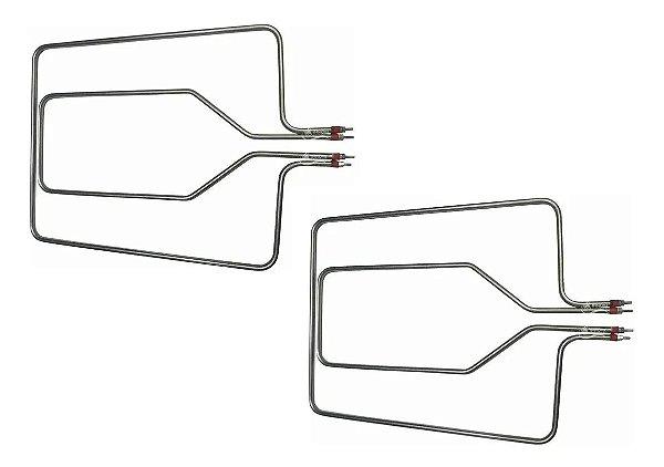 Kit 2 Pares de Resistências Originais para Forno Layr Luxo 500 + 700 Watts