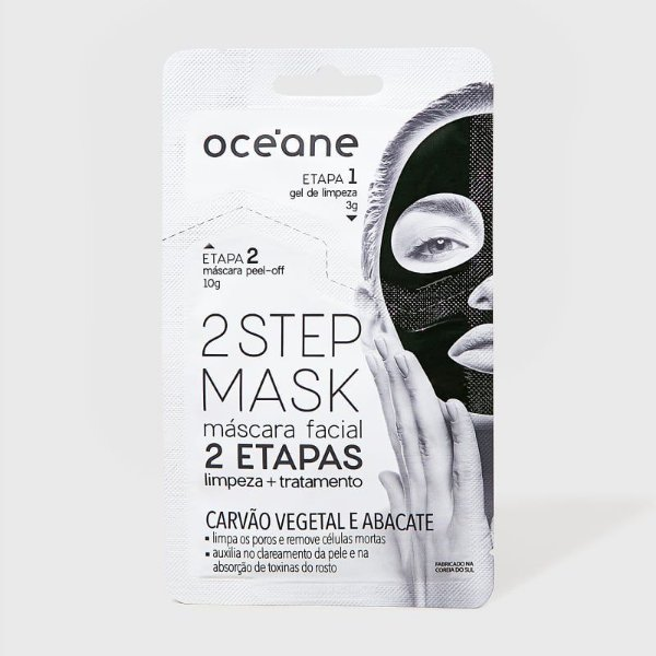 Máscara Carvão Vegetal e Abacate - 2 Step Mask by Océane