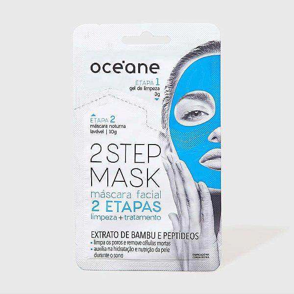 Máscara Facial Noturna Bambu e Peptídeos - 2 Step Mask by Océane