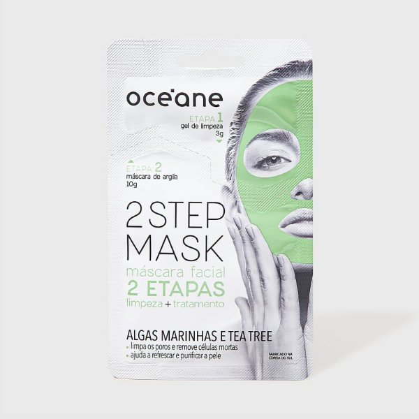 Máscara Facial Algas Marinhas e Tea Tree - 2 Step Mask by Océane