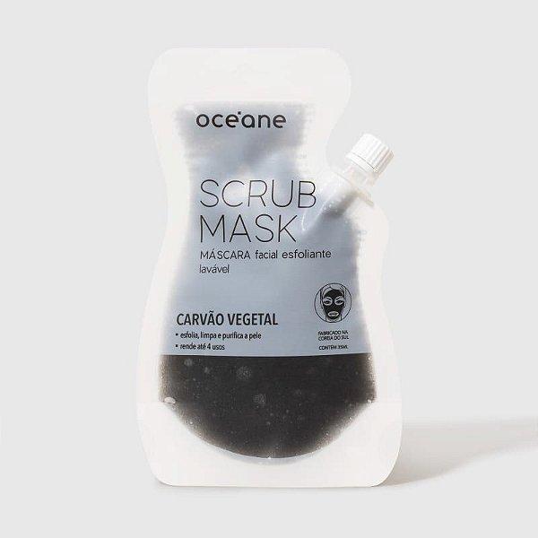 Máscara Facial Esfoliante Carvão Vegetal Oceane Scrub Mask