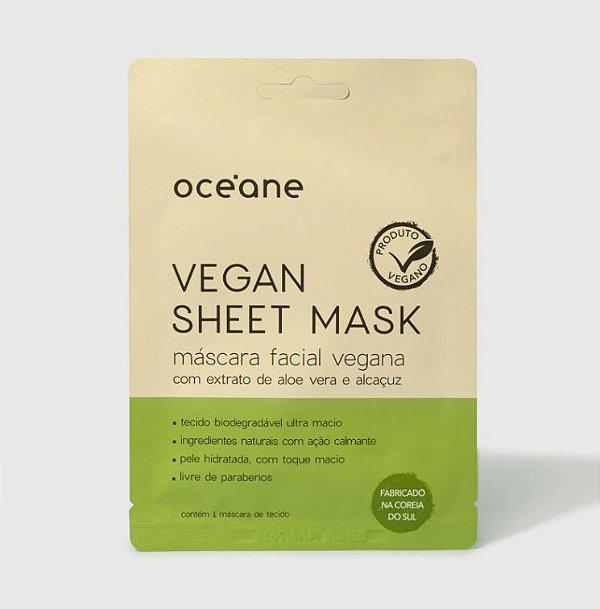 Máscara Facial Vegana C/ Ext. de Aloe Vera - Vegan Sheet Mask 1 Un