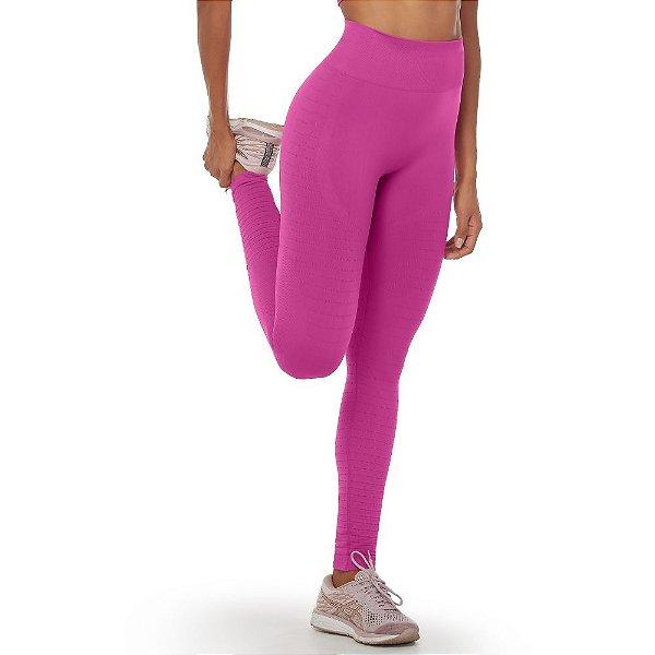Calça Legging Fitness Move On Sem Costura Rosa Pink