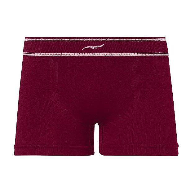 Cueca Boxer Infantil Sem Costura Vermelho