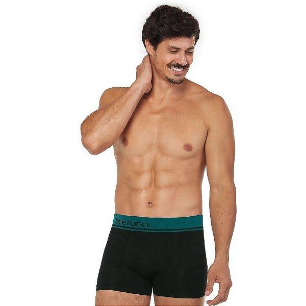 Cueca Boxer Jacquard Sem Costura Preto