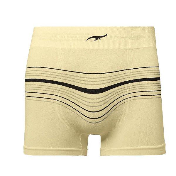 Cueca Boxer Listrada Sem Costura Amarelo