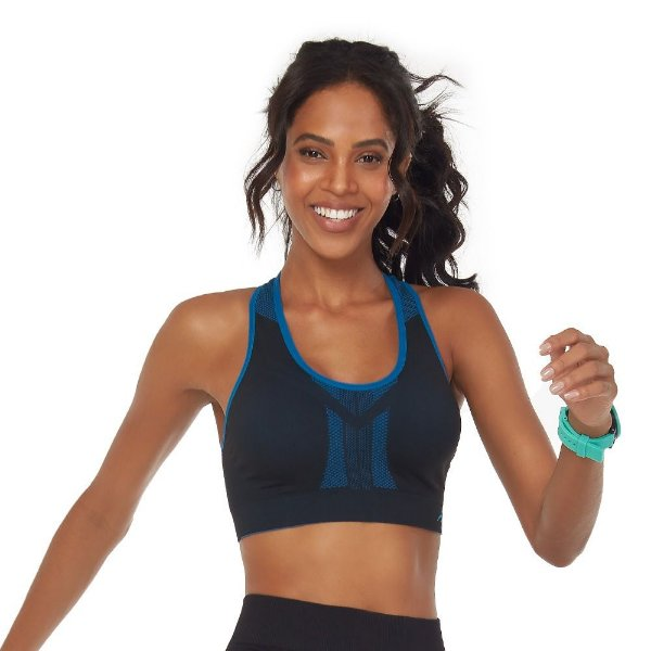 Top Fitness Discovery Dupla Face Azul