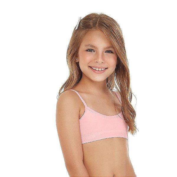 Top Infantil Sem Costura Rosa