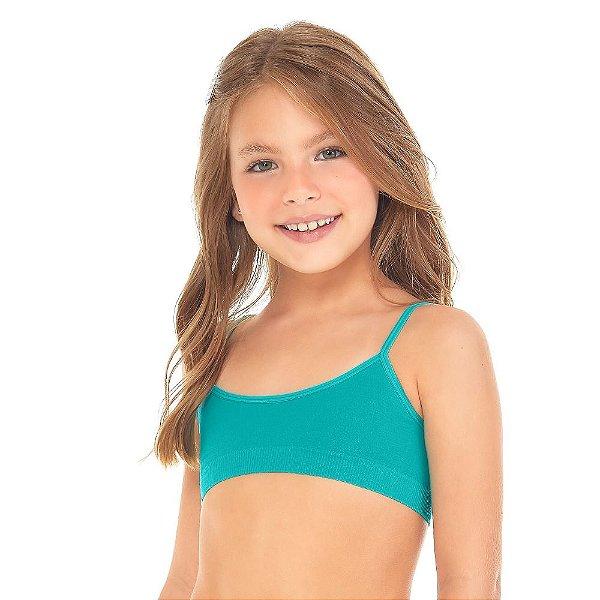 Top Infantil Sem Costura Verde