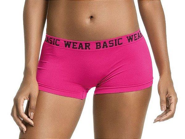 Calcinha Boxer Sem Costura Basic Wear Pink