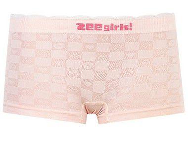 Calcinha Boxer Sem Costura Sweets Checkerboard Rosa